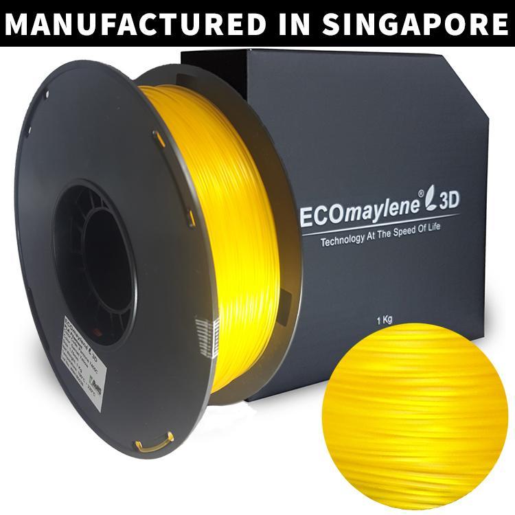 Sale Ecomaylene3D Pla 1 75Mm Garnet Yellow 1Kg Ecomaylene3D On Singapore