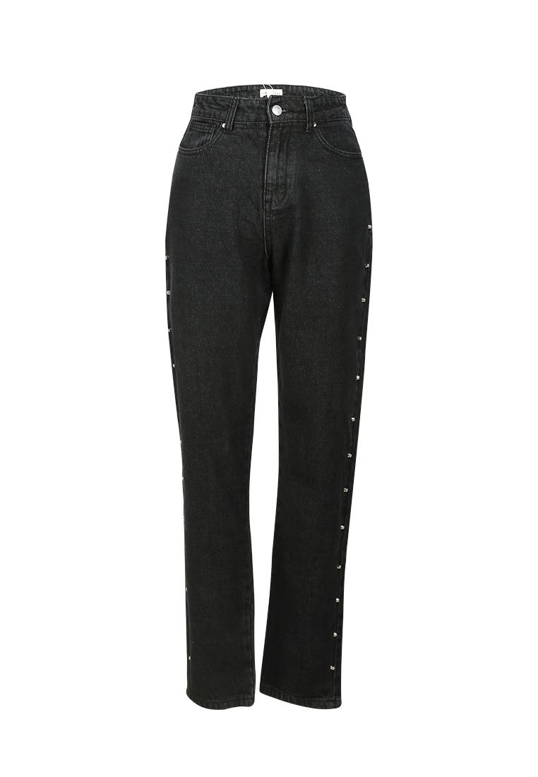London Rag Women's Black Jeans with Stud