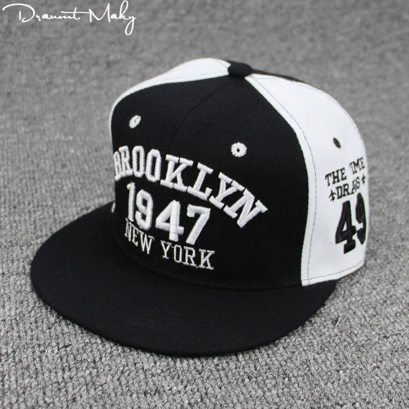 New Fashion Men Womens 1947 BROOKLYN Letters Hip Hop Caps Leather Sun Hat  Snapback Hats Embroidery 8ec812bf49a