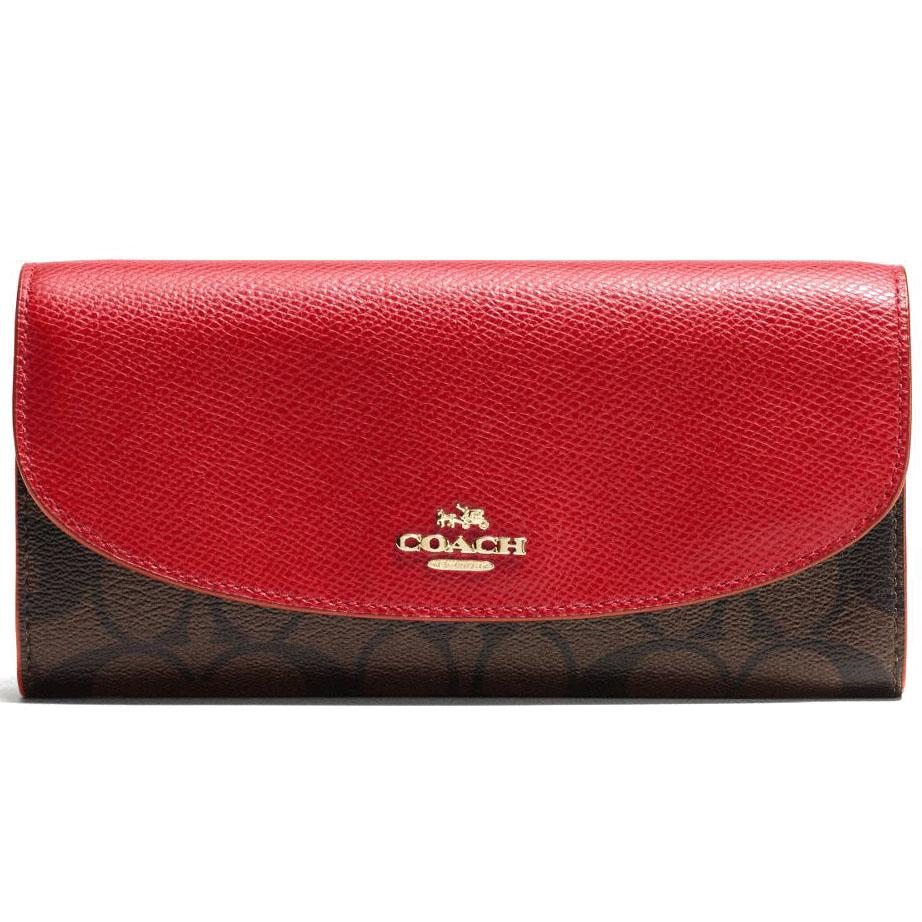 release date: bd24a 7d696 closeout coach travel wallet womens 1f2f1 621a2