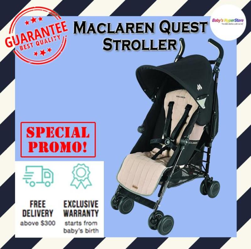 Maclaren Quest Stroller - Suitable from newborn to 25kg - Local seller warranty 1 YEAR Singapore