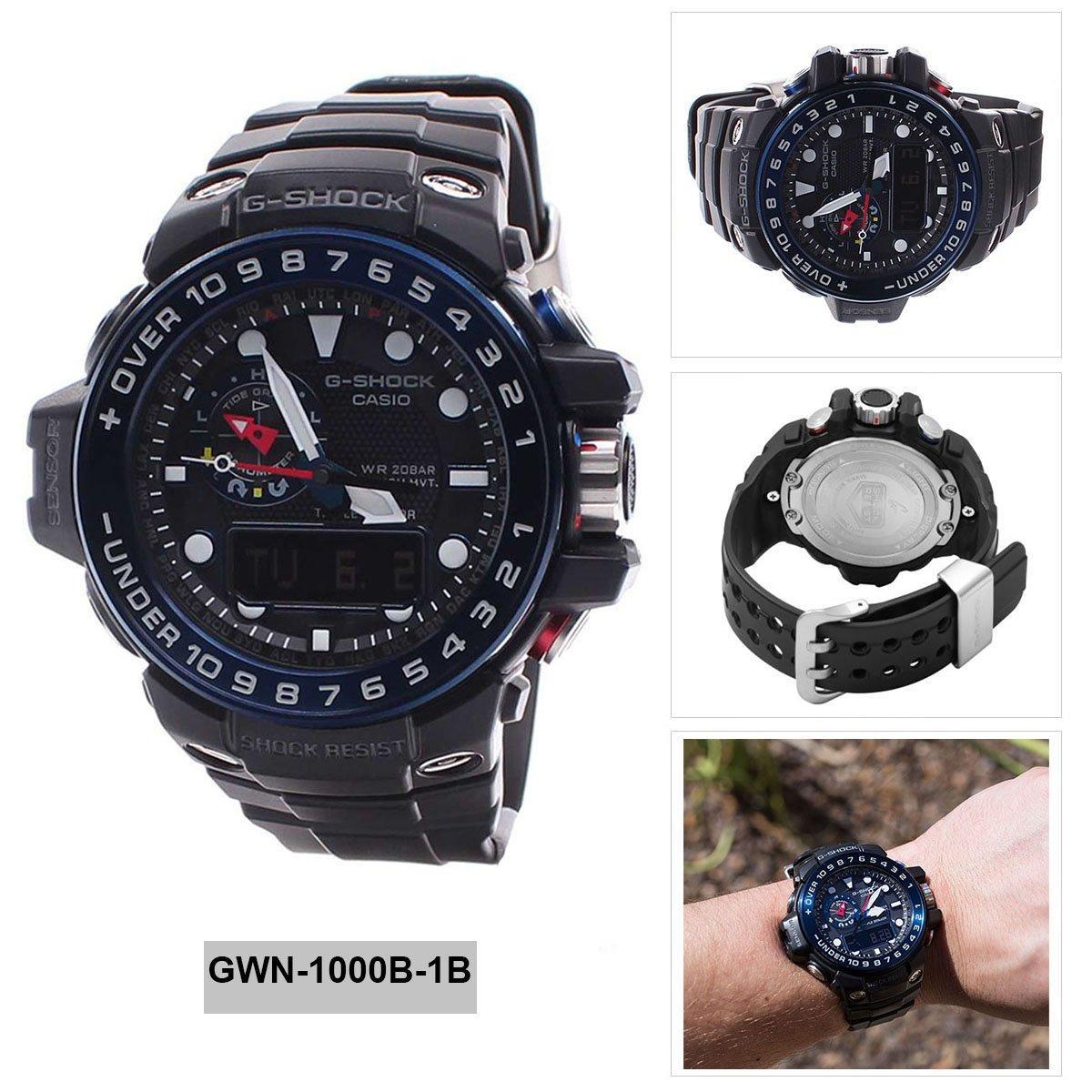 Sale Casio Watch G Shock Gulfmaster Black Resin Case Resin Strap Mens Gwn 1000B 1B Casio G Shock Cheap