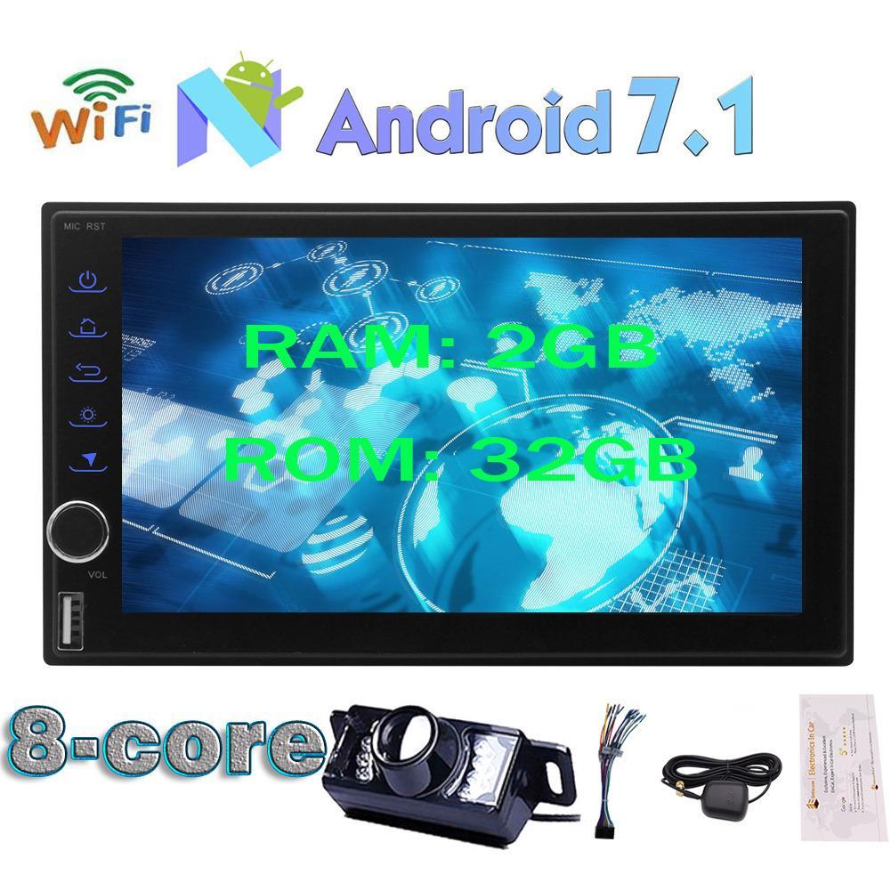 Buy Cheap Eincar 2Gb 32Gb Android 7 1 Nougat Os Octa Core Universal 2Din 7 Car Stereo Gps Sat Navigator Car Autoradio Support Fast Boot Bluetooth Swc Mirror Link Dvr Usb Sd Hd 1080P Dab 3G Wifi Cam In Rear Camera 2Din Autoradio Octa Core Stereo Hd Touchscreen Gps