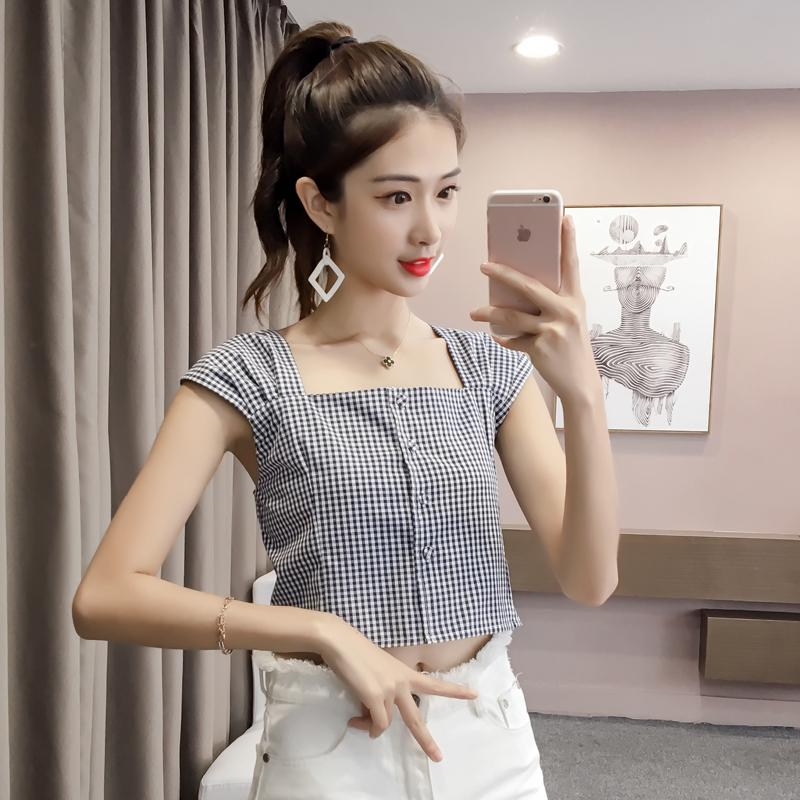 Chic Suspender Retro Atasan Korea Fashion Style Perempuan Longgar
