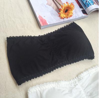 Korea Fashion Style siswa gadis mengumpulkan Vest dada pad dibungkus dada (7742 hitam) (