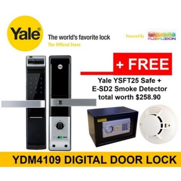 Retail Yale Intelligent Biometric Fingerprint Digital Door Lock Ydm 4109