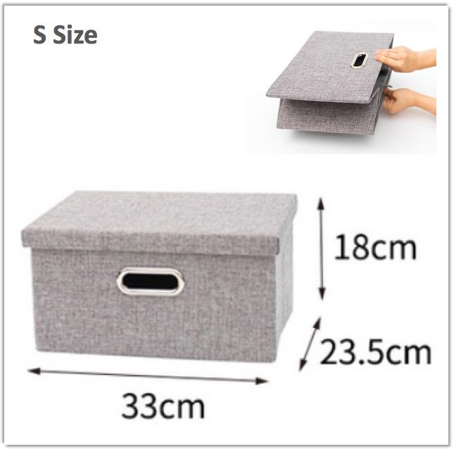 Foldable Storage Box Hardboard Oxford Cloth Durable Store Clothes Wardrobe Organizer