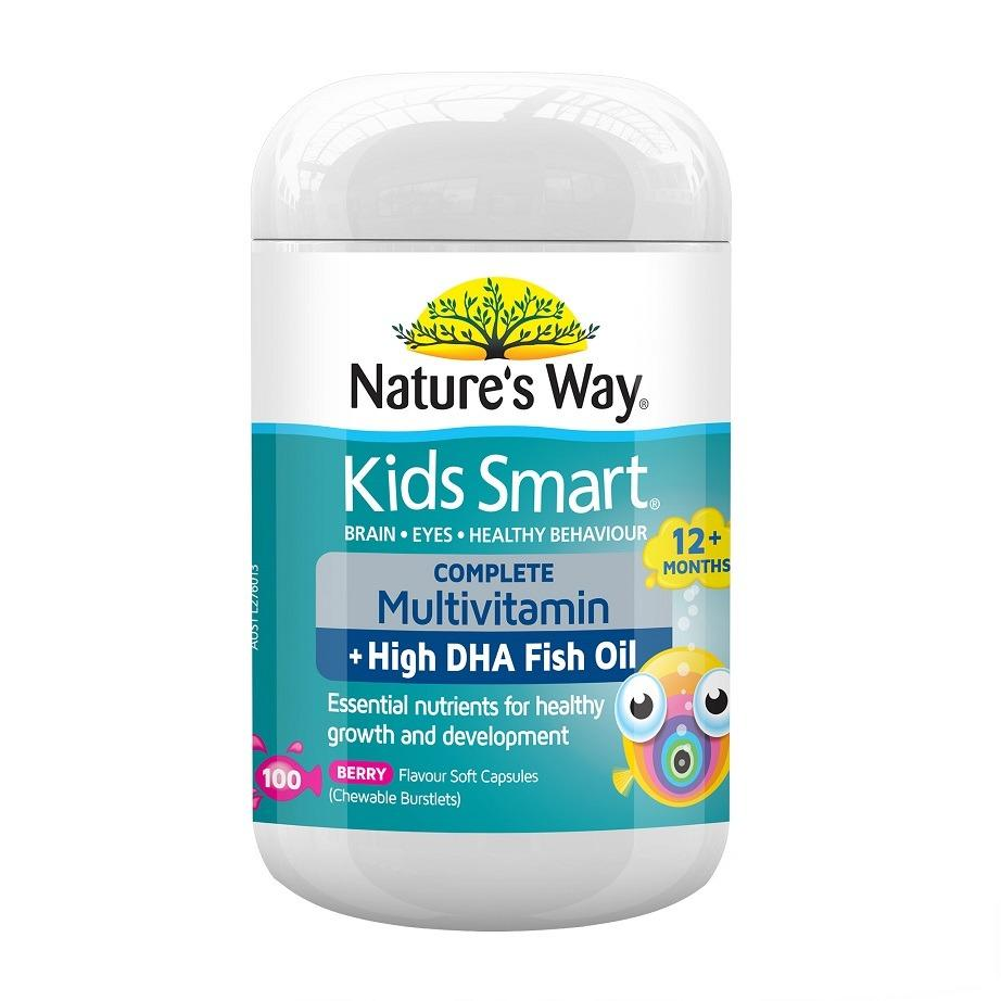 Top 10 Nature S Way Kids Smart Complete Multi Vitamin Fish Oil 100 Capsules