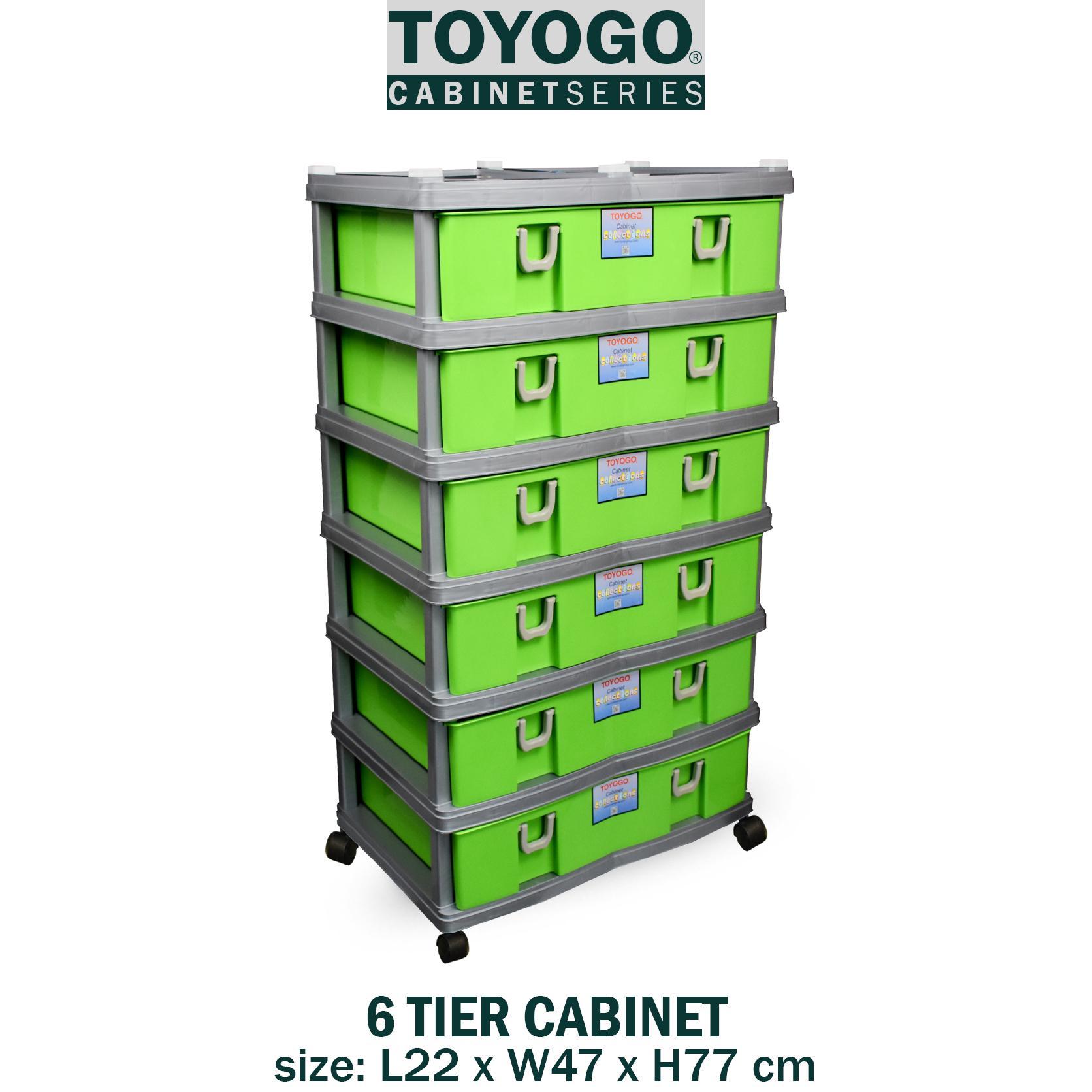 [902-6] TOYOGO - PLASTIC STORAGE CABINET/DRAWER WITH WHEELS (6 TIER)