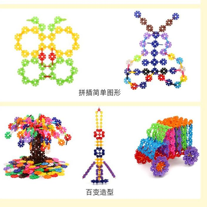 Rc Baby Kids 400Pcs Multicolor Snowflake Building Blocks With Storage Box Kid Baby Creative Educational Colorful Plastic Puzzle Construction Xmas Toys Singapore