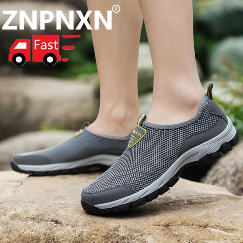 Znpnxn Mode untuk Pria Sepatu Olahraga Luar Ruangan Sepatu Mendaki -Internasional fb34c6612c