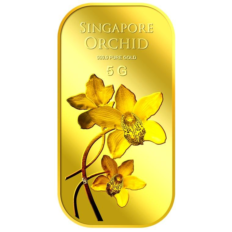 Best Price Puregold Singapore 5G Orchid Series 2 Gold Bar 999 9