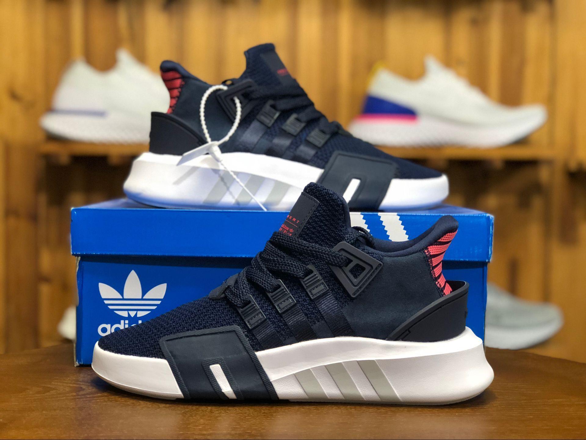 de838bbbee6 Adidas Originals EQT Basketball ADV Women and Men Lifestyle Shoes CQ2996 Navy  Blue
