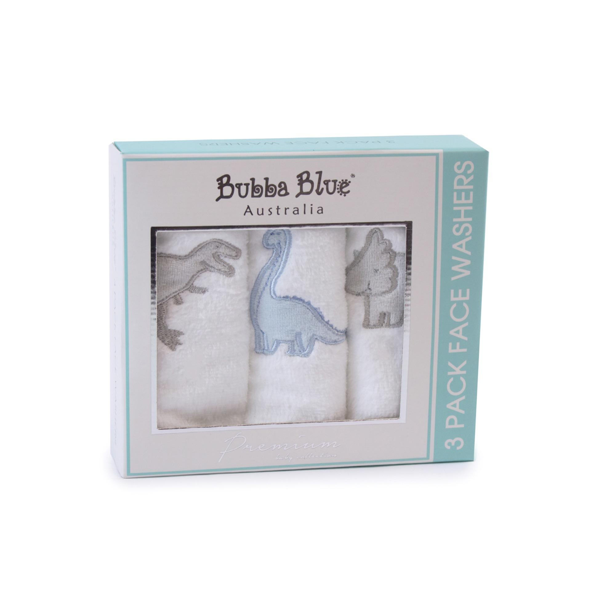 Bubba Blue Jurassic  Pack of 3 Face Washers