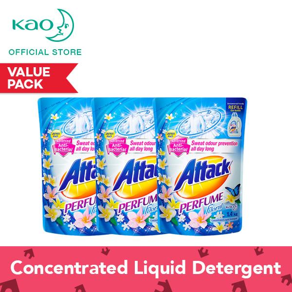 Attack Perfume Floral Liquid Laundry Detergent Refill 1 4Kg Set Of 3 On Singapore