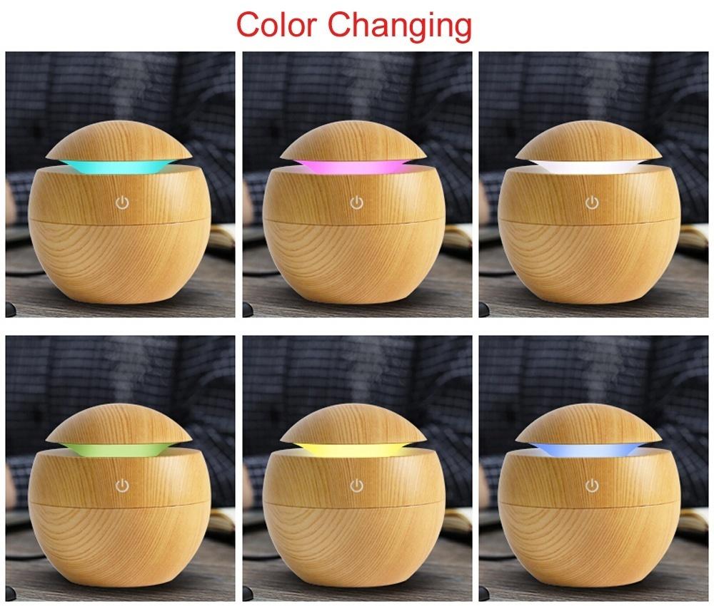 LED Night Light Ultrasonic Humidifier Air Mist Maker Diffuser PP-Intl.