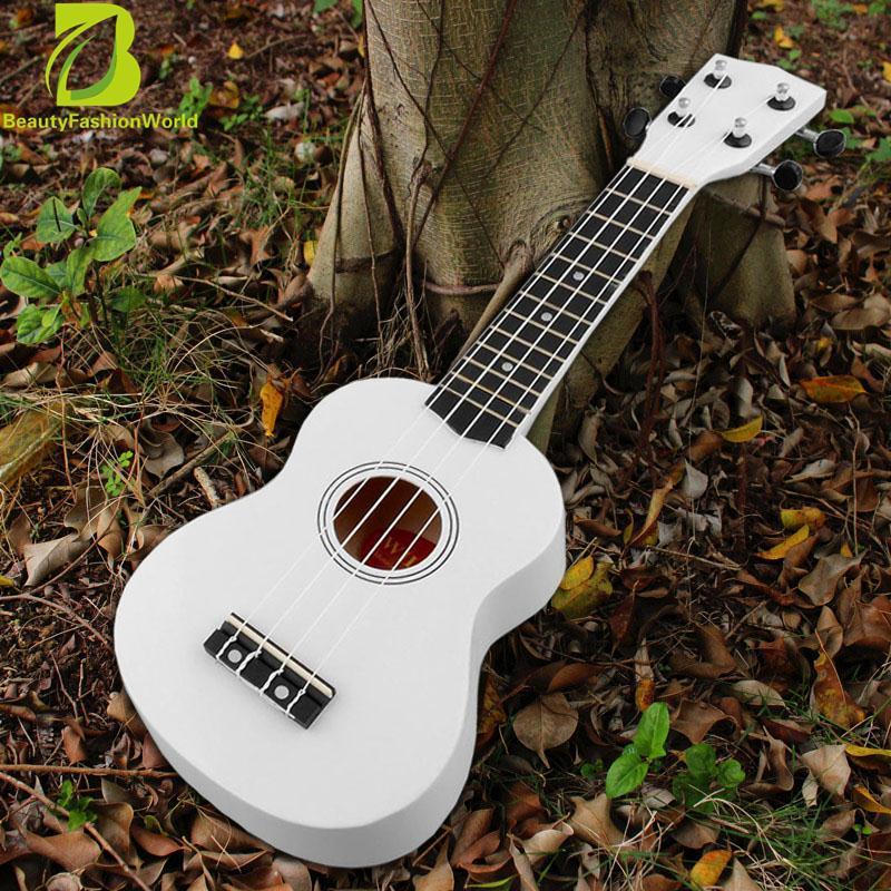 Discount 21 Soprano Ukulele Uke 12 Frets 4 String Instrument Hawaiian Guitar White Oem China