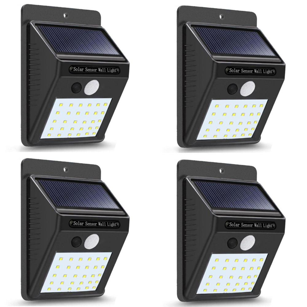【30 LED】Solar Lights Outdoor, Wireless Waterproof Solar Lights For Garden Patio Deck Yard Home Walkway, Outside Wall With Light Sensor Auto On/Off 【4 pack】
