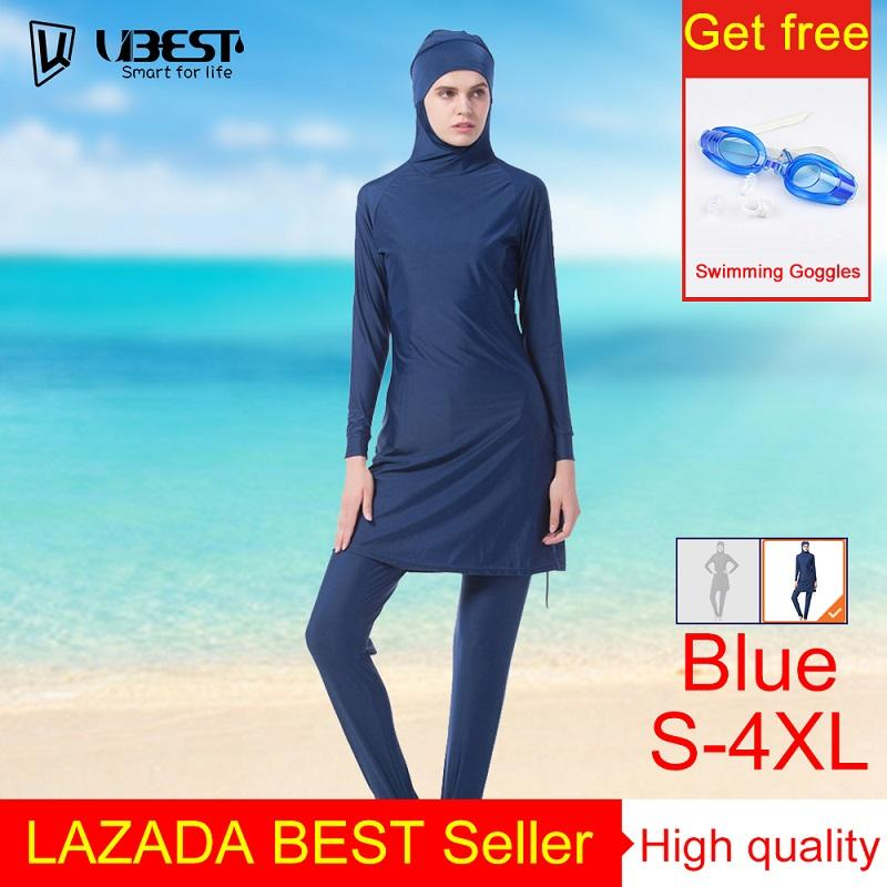 5f06730e384 Fashion Young Women Muslim Swimwear Beach Bathing Suit Muslimah Islamic  Swimsuit Swim Surf Wear Sport Clothing