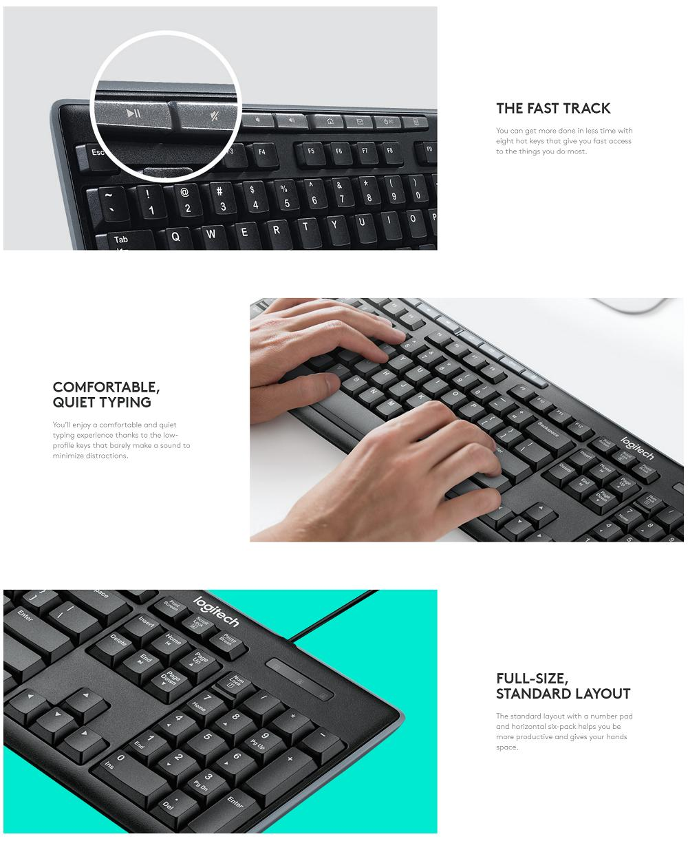 Logitech Usb Media Keyboard K200 Online Exclusive Singapore K120 Original Specifications Of