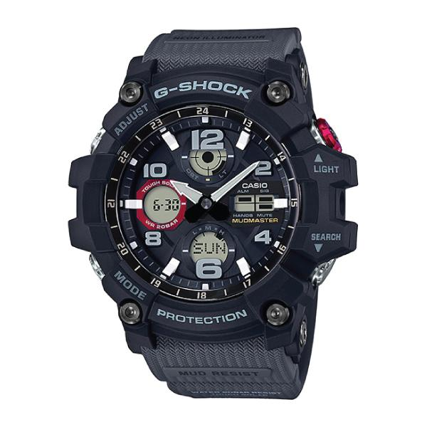 Casio G-Shock Master of G Series Mudmaster Grey Resin Band Watch GSG100-1A8 GSG-100-1A8