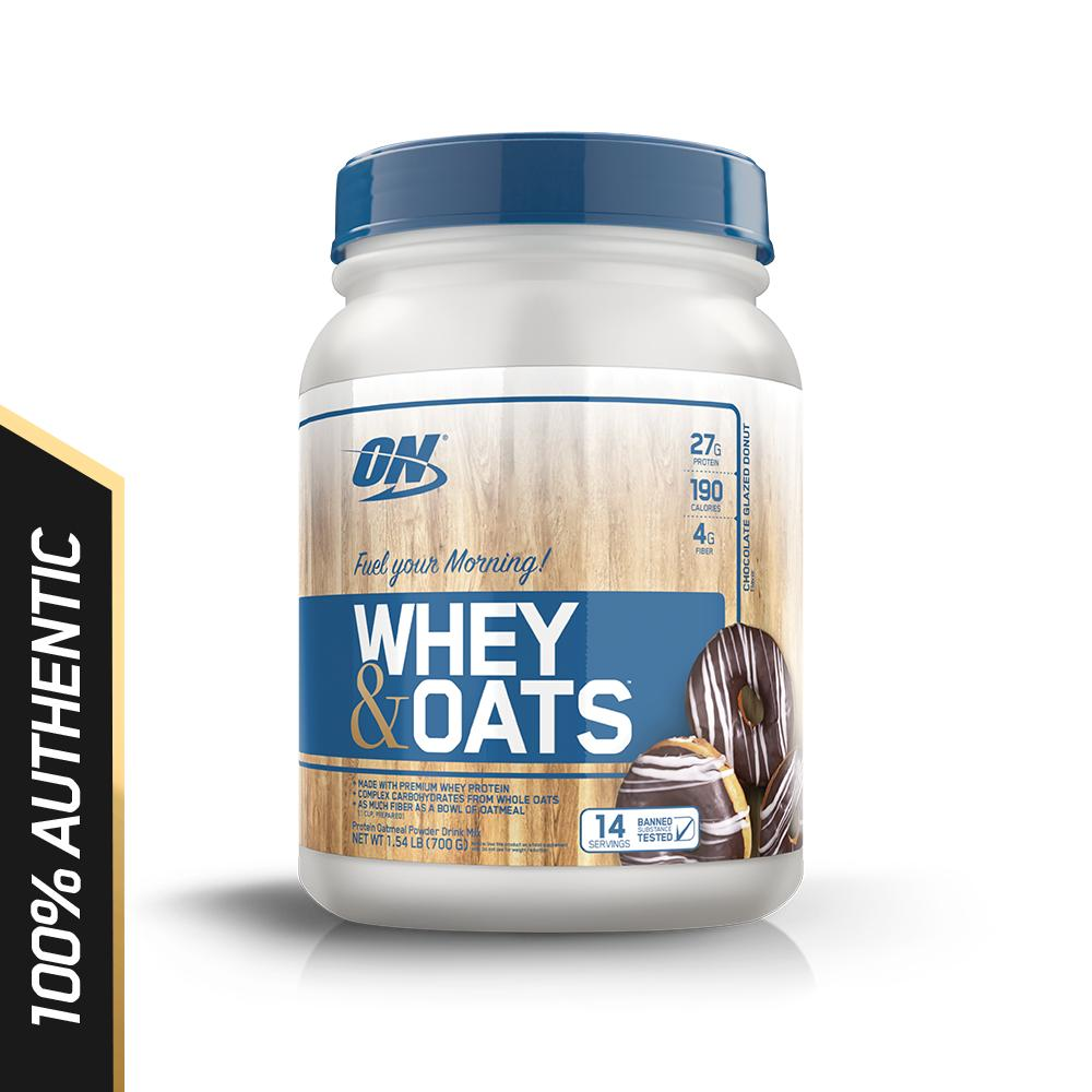 Price Compare Optimum Nutrition Whey Oats 1 5 Lbs Chocolate Glazed Donut
