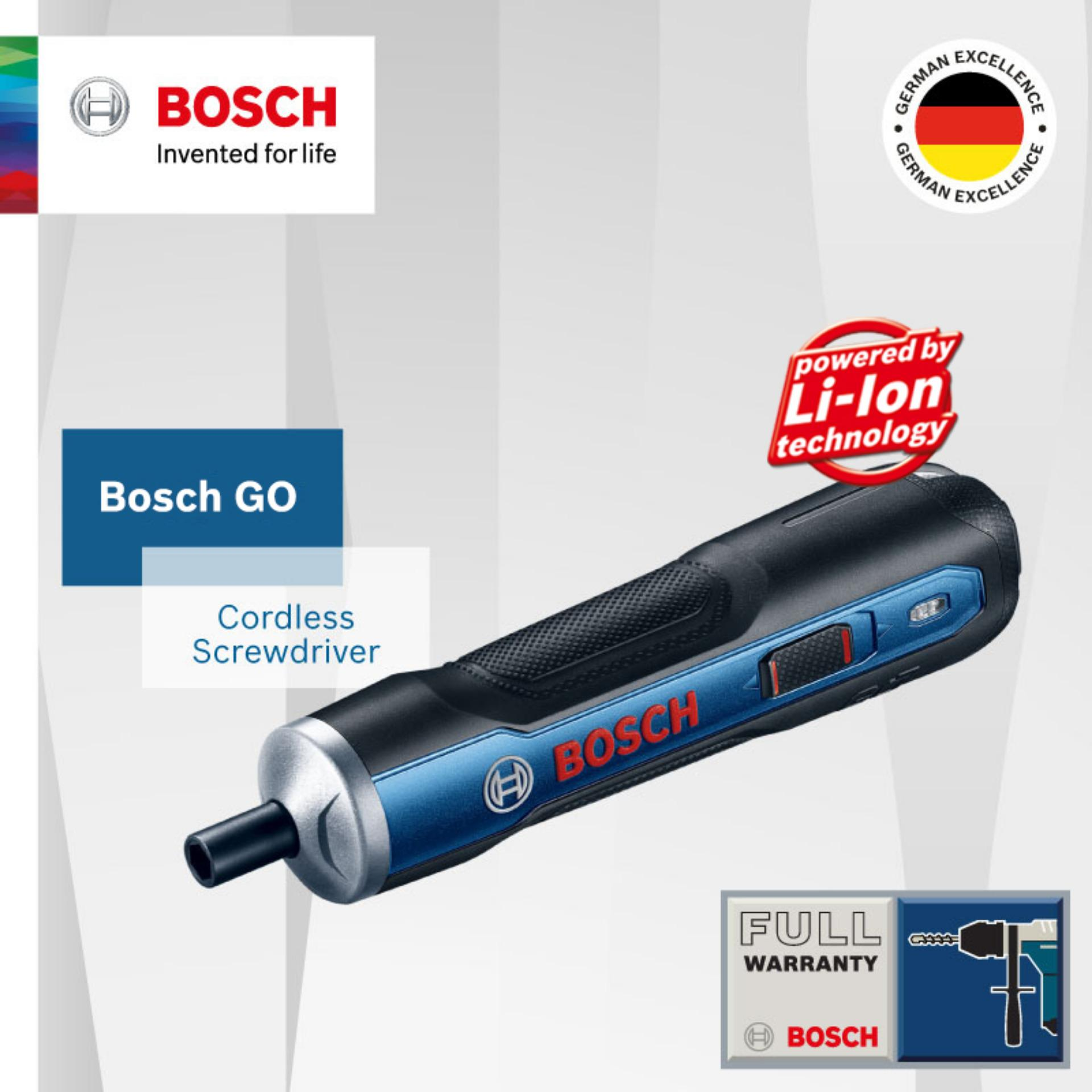 For Sale Bosch Go Cordless Screwdriver Kit With 33Pcs Screwdriver Bits