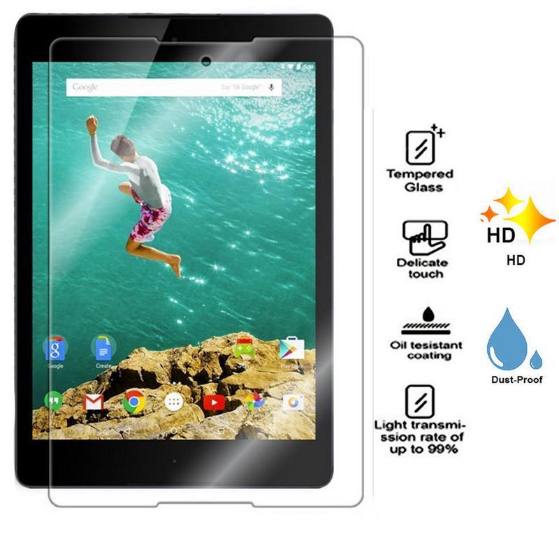 Untuk HTC Google Nexus 9 Tablet Premium Ultrathin Explosion-Proof Kaca Antigores Pelindung Layar