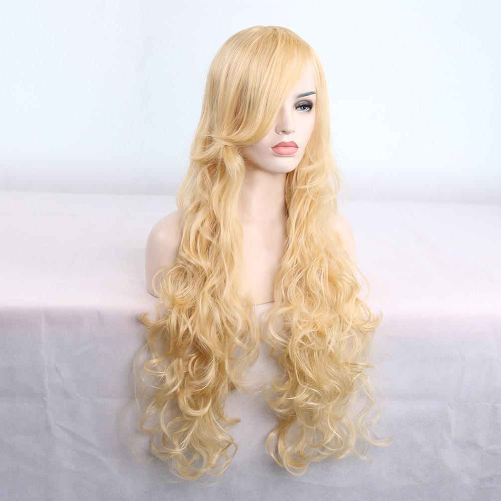 80cm Women's Heat Resistant Hair Blonde Long
