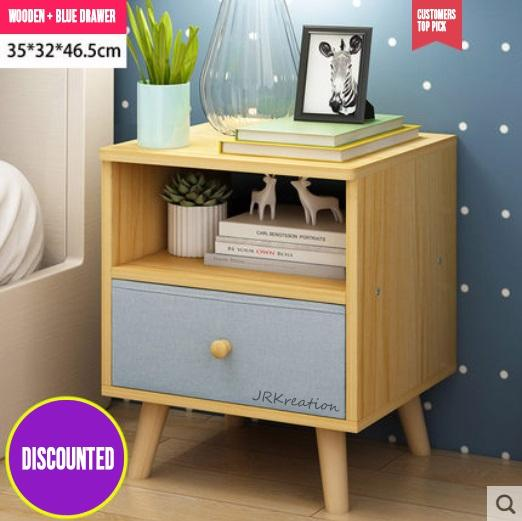 Modern Minimalist Nordic Home Bedside table storage cabinet nylon drawer