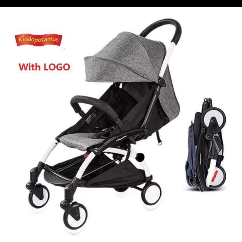 Kiddopotamus® Cabin size Ultra Lightweight one hand fold baby stroller - Grey Color Singapore