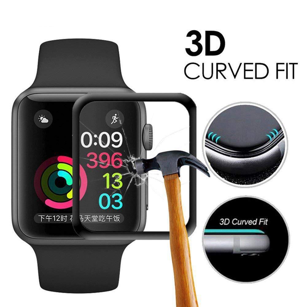 3D Full Cover Edge Full Glass Film 42MM Screen Protector For Apple Watch .