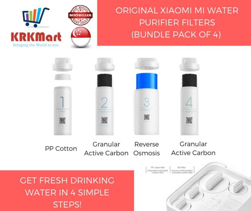 (Bundle Pack) Original Xiaomi Mi Water Purifier filter replacement Filter 1 / 2 / 3 / 4 Singapore