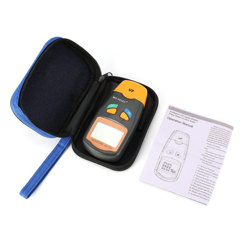 MD-9032C + Digital Kayu Kelembaban Pengukur Kelembapan Lembab Detector T * Ster 5%