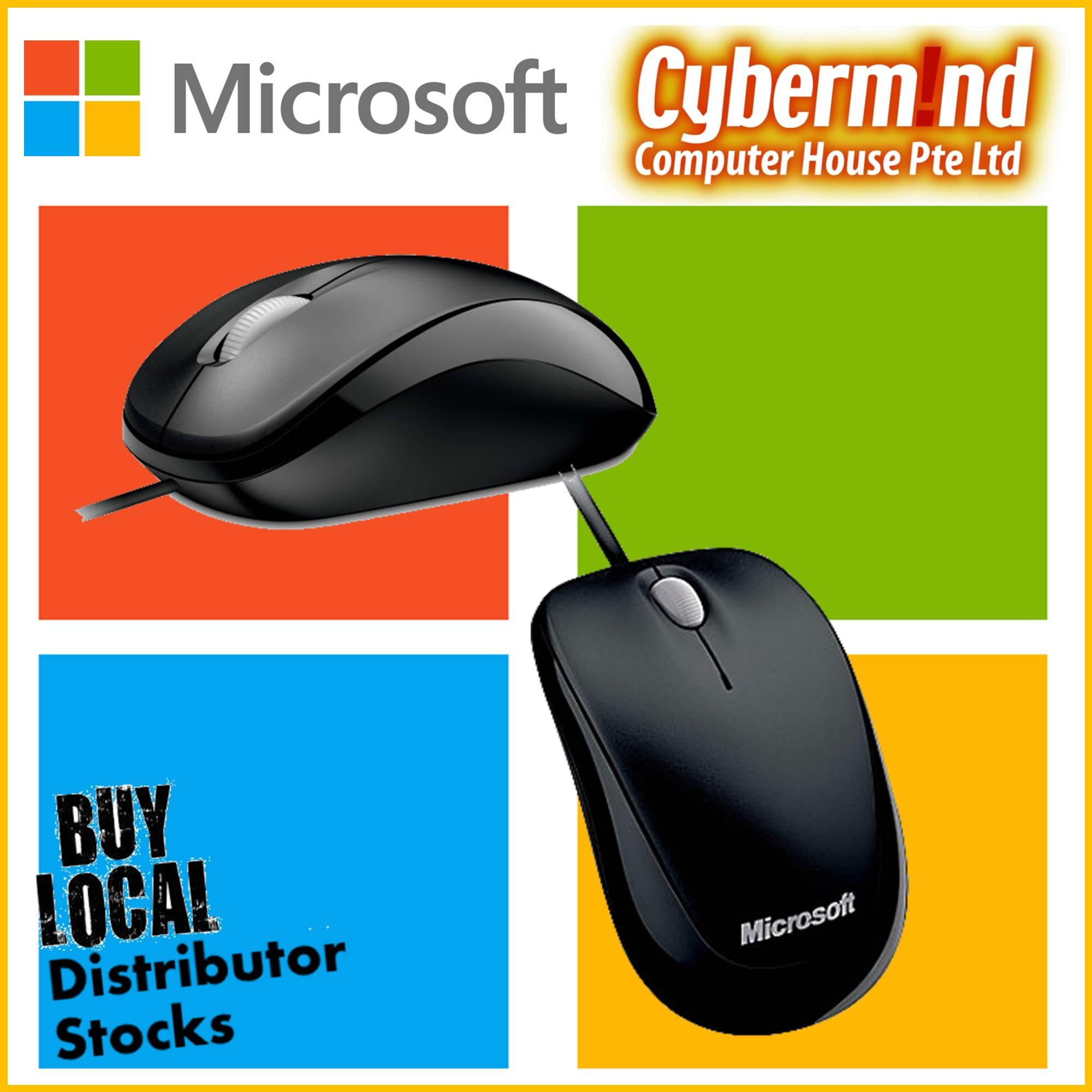 Sale Microsoft Compact Optical Mouse 500 Black Wired Usb Microsoft On Singapore
