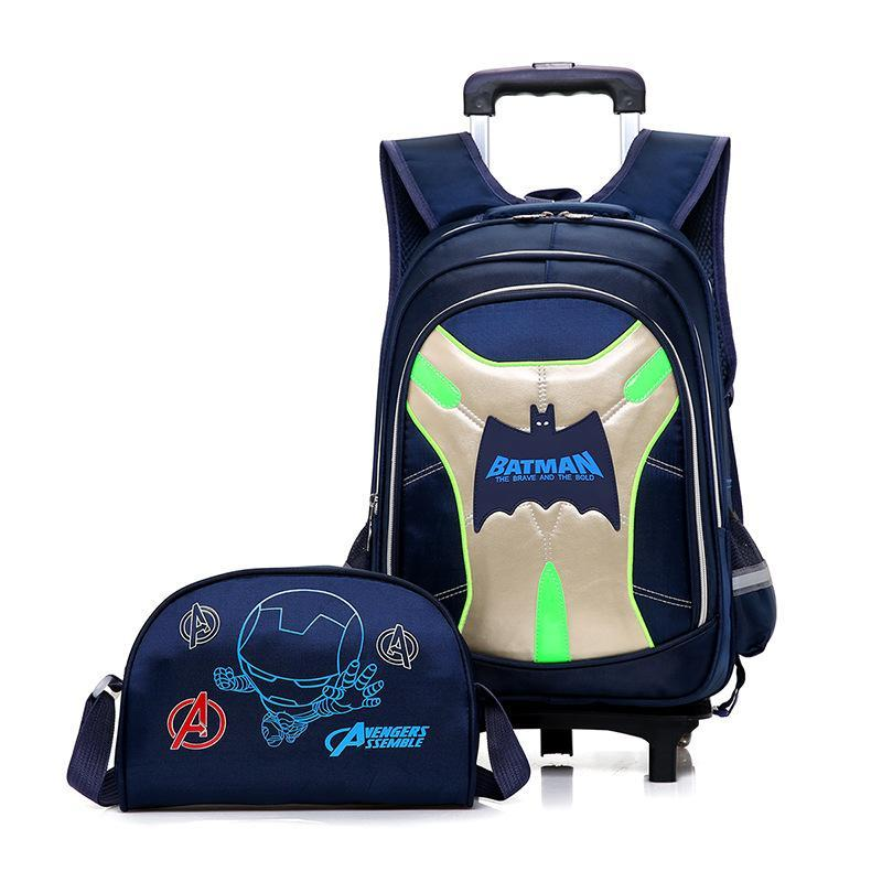 Student Trolley School Bag Removable bag backpack OTO8