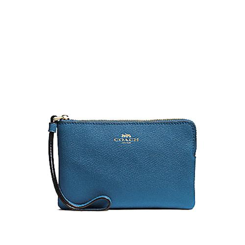 Coach Corner Zip Small Wristlet Multiple Designs Available