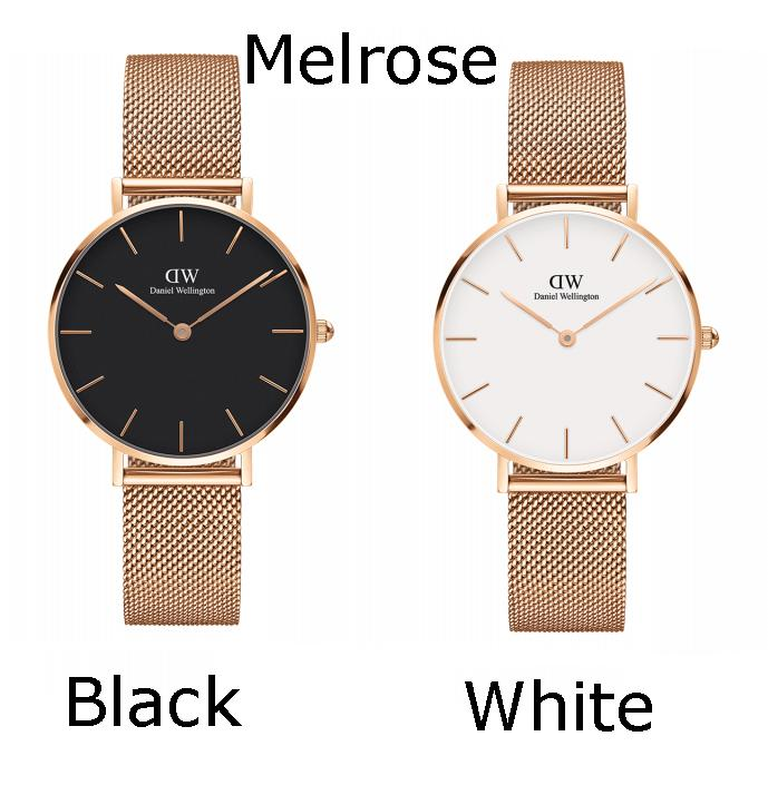Sale Daniel Wellington Petite Black Or White 32Mm Melrose Ladies Mesh Watch Dw00100161 Or Dw00100163 Singapore Cheap