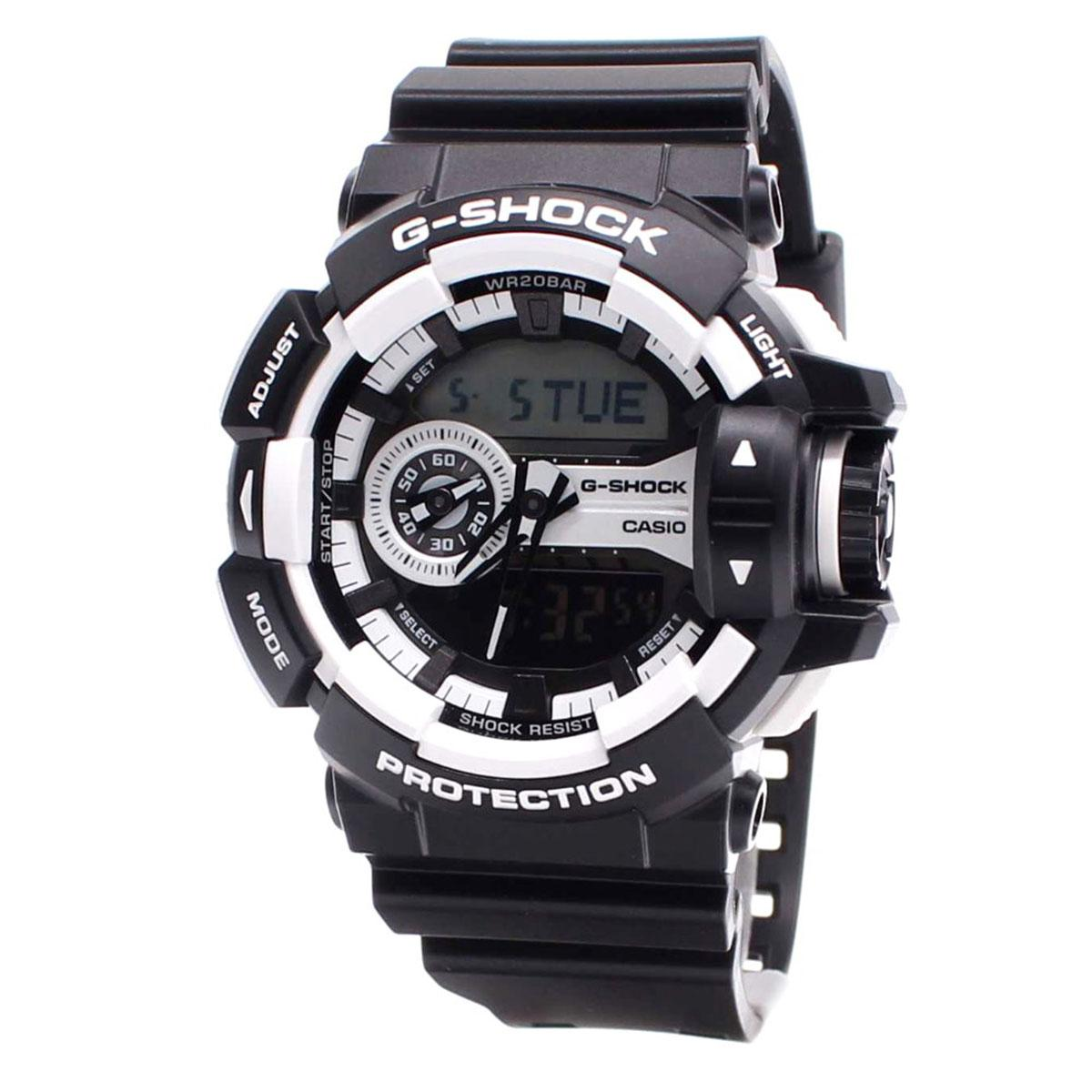 Casio Watch G Shock Black Resin Case Resin Strap Mens Ga 400 1A Best Buy