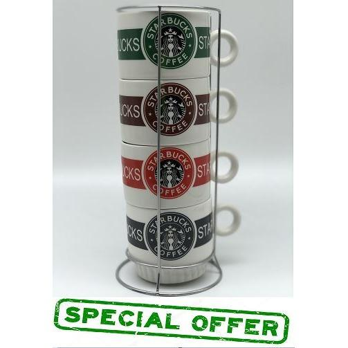 Buy Starbucks Stackable Cups 4 In 1 Cheap On Singapore