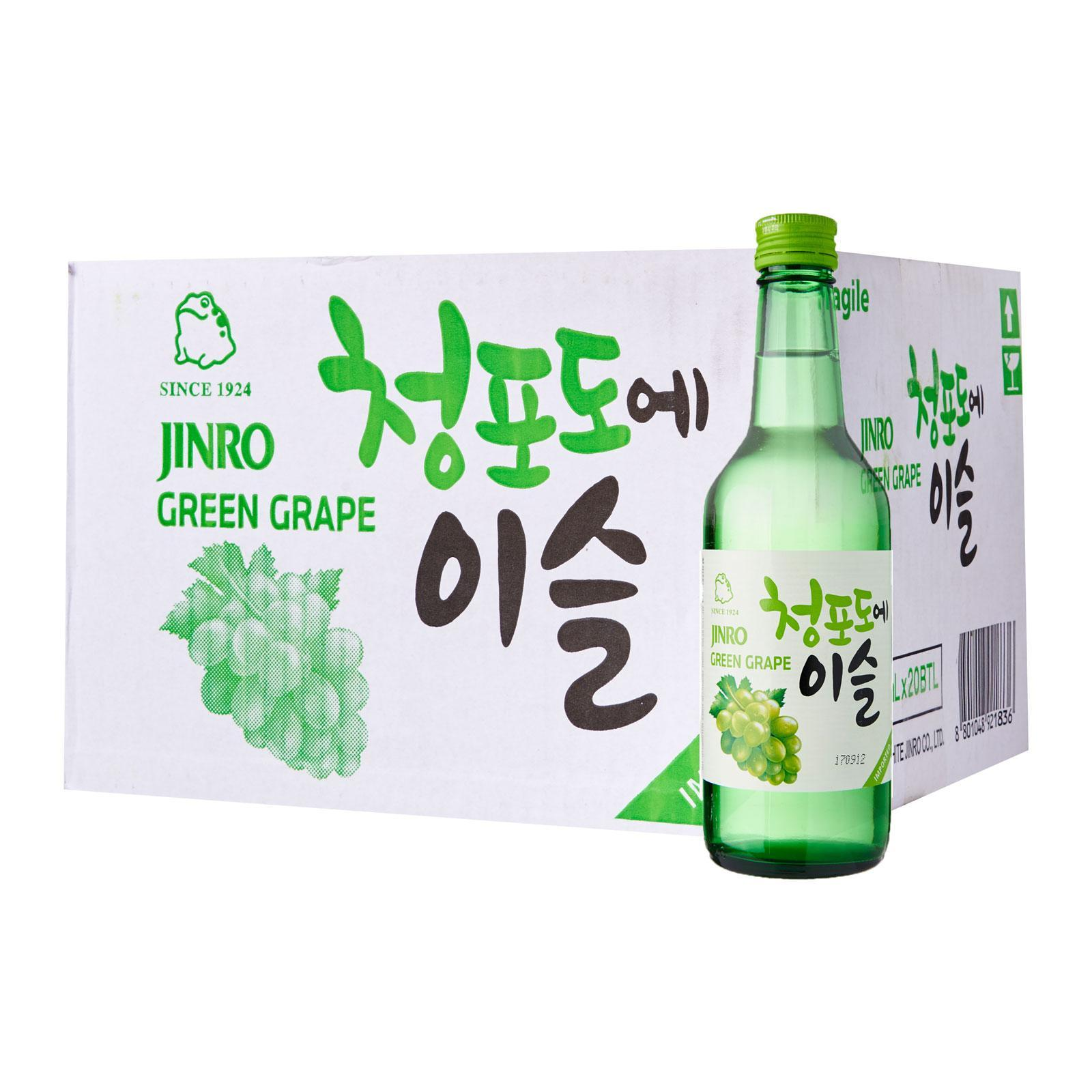 Jinro Green Grape Soju Carton (20 Bottles) By Geonbae.