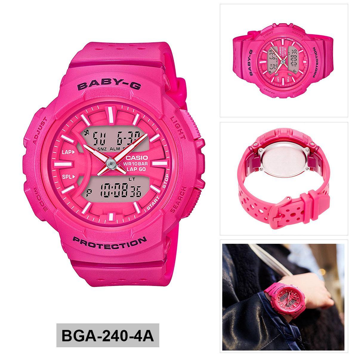 Casio Baby G Bga 150ef 4b Pink Intl Singapore Price Specs 230 7b2 Original For Running Resin Case Strap Ladies 240 4a