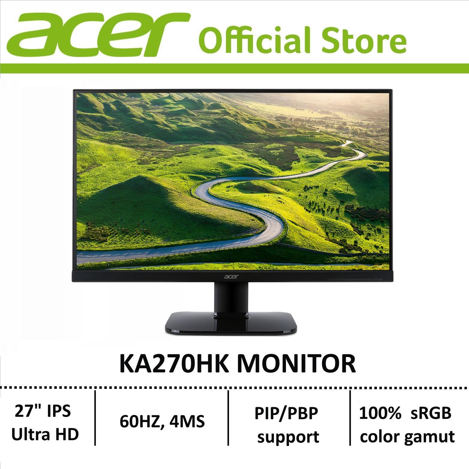 Acer KA270HK - 27 Ultra HD 4K LCD display with LED Technology Monitor