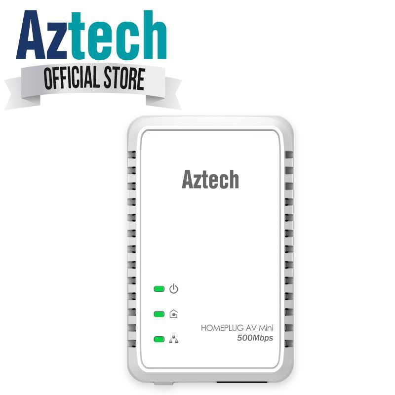 Latest Aztech Homeplug Av 500Mbps Ethernet Adapter Hl117E