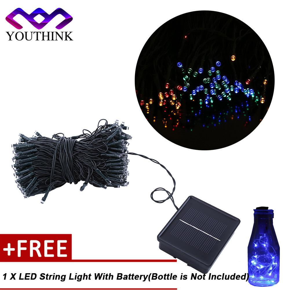 Top 10 Outdoor Solar Powered String Light Tree Decor Fairy Colorful Buy 1 Get 1 Free Led String Light With Battery