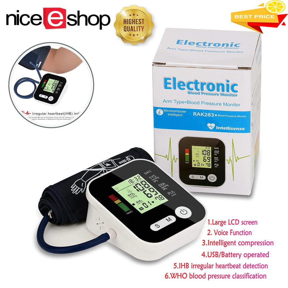 Price Compare Niceeshop Portable Lcd Display Home Automatic Arm Blood Pressure Monitor Sphygmomanometer With Voice Function Intl