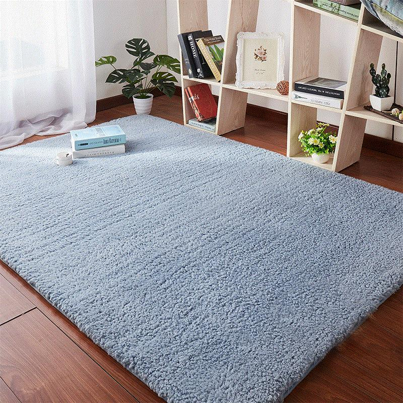 Getek 【40cm×60cm】simple ห้องนั่งเล่นทันสมัยพรมกาแฟแผ่นรองโต๊ะหนา Plush เตียงเต็มเตียงเสื่อเตียง Ikea.