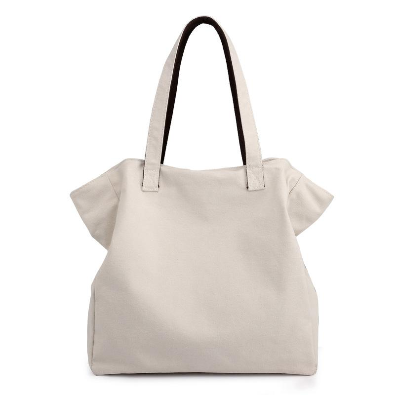 กระเป๋าเป้ นักเรียน ผู้หญิง วัยรุ่น บึงกาฬ ผ้าใบสตรีกระเป๋าสะพายไหล่ใหญ่กระเป๋ากระเป๋าทรงสี่เหลี่ยมมีหูหิ้วสะพายไหล่กระเป๋าถือขนาดใหญ่กระเป๋าเดินทาง