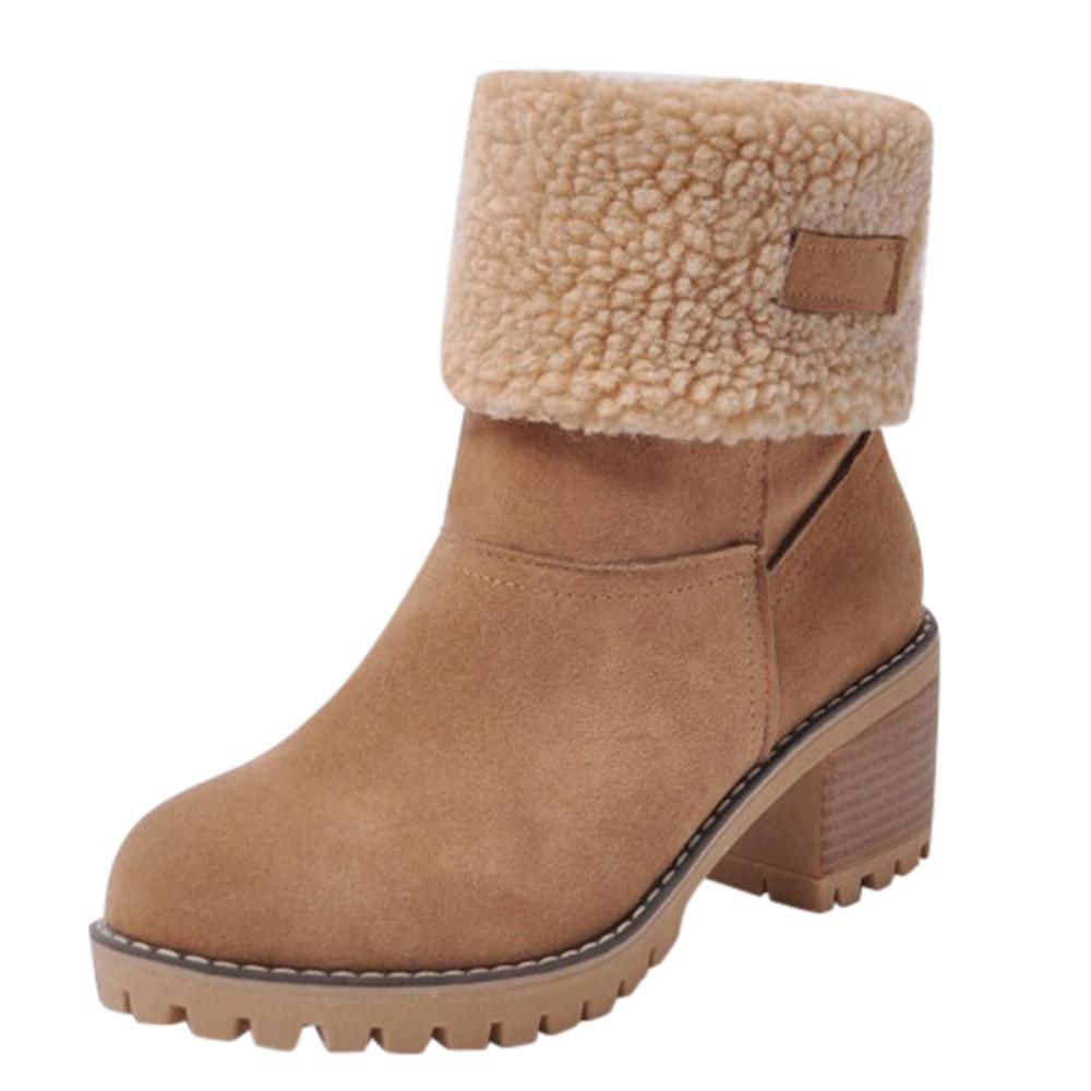 Joomia Boots For Women Womens Ladies Winter Shoes Flock Warm Boots Martin Snow  Boots Short Bootie Singapore c3c5966e2