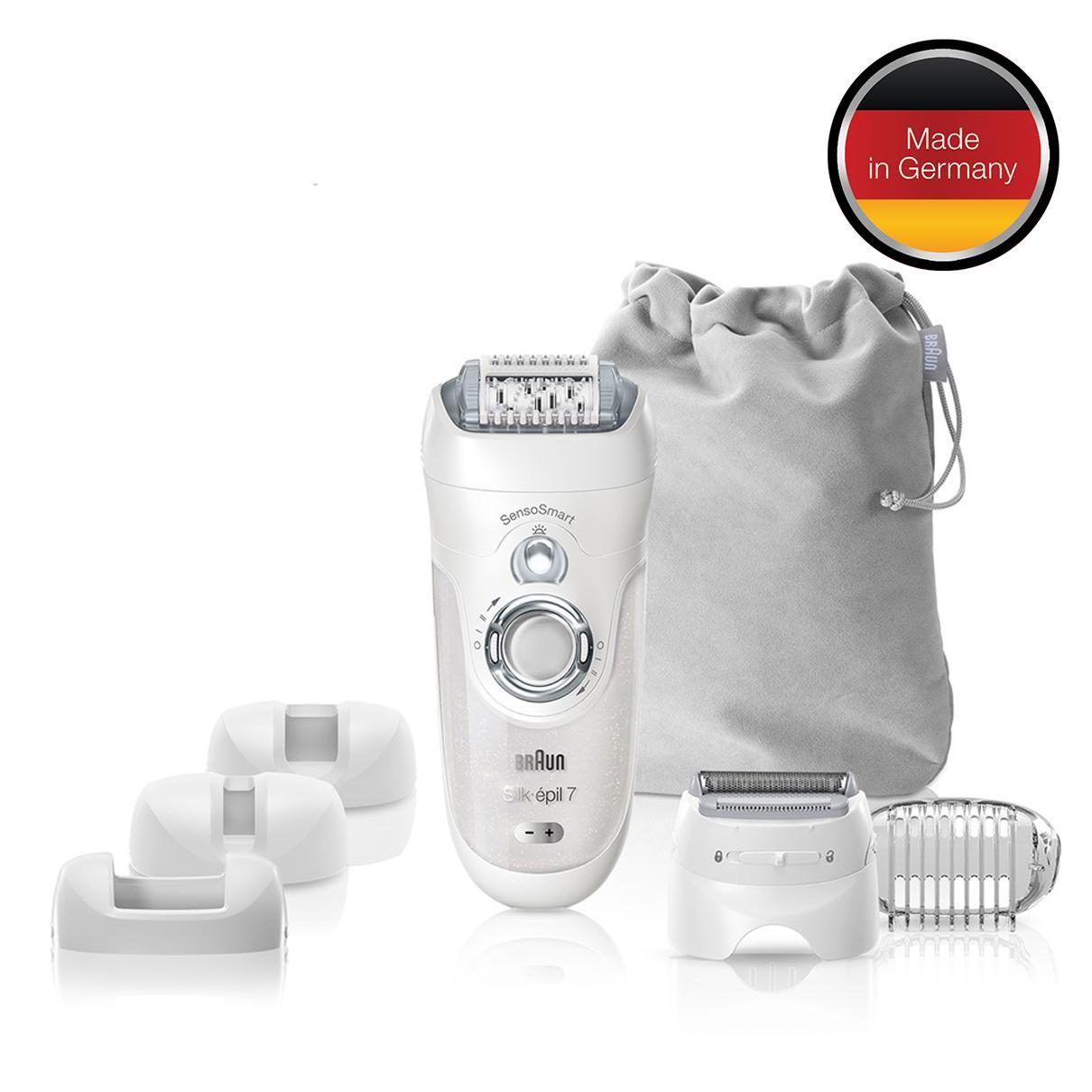 Get Cheap Braun Silk Epil 7 7880 Sensosmart™ Epilator Silver Cordless Wet Dry Epilator With 7 Extras